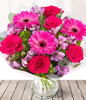 Pink lady hot pink flower bouquet eflorist flowers pink lady mightylinksfo