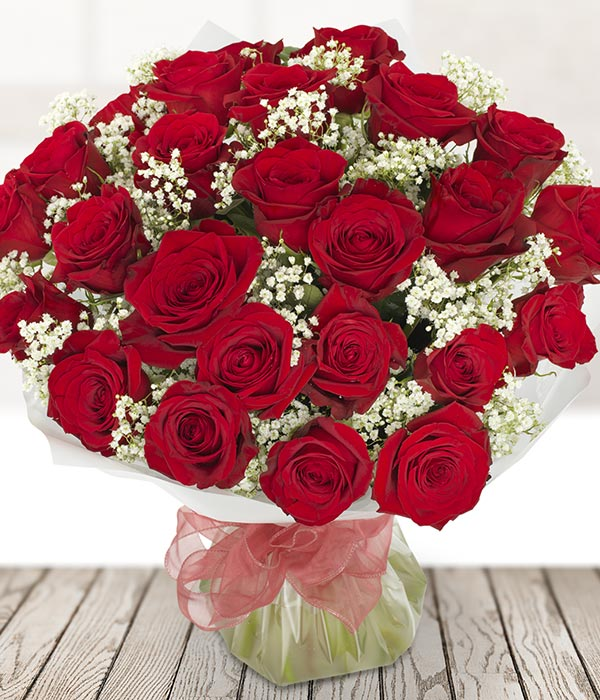 24 Luxury Red Roses