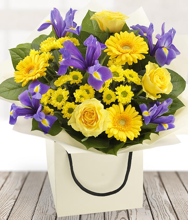 bright bold and beautiful bouquet of flowers deliv