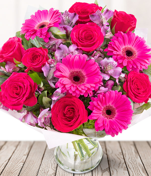 Pink Lady - Hot Pink Flower Bouquet - eFlorist Flowers