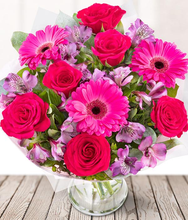 Pink Lady - Hot Pink Flower Bouquet - eFlorist Flowers