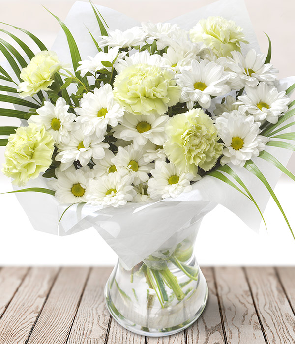 Imagine - White Flower Bouquet - Send Flowers by Post