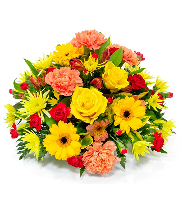 Yellow, Orange & Red Posy
