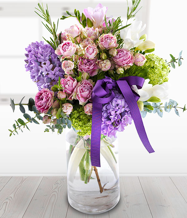 Delicately Decadent Beautiful Spring Flower Vase Arrangement