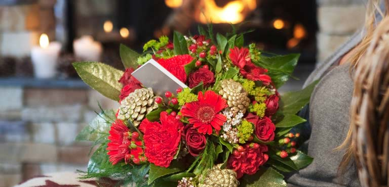 Christmas Flowers by Post